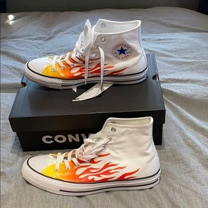 Converse Chuck Taylor All Star White & Flame Shoes